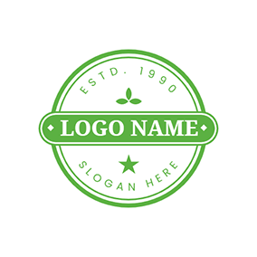 Simple Prasinous Stamp logo design