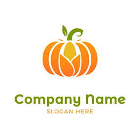 Simple Pumpkin Icon logo design