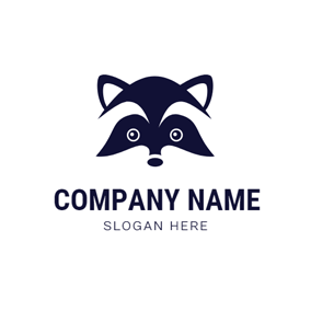 Simple Raccoon Face logo design
