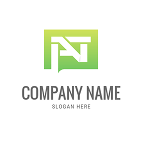 Simple Rectangle and Abstract A T logo design