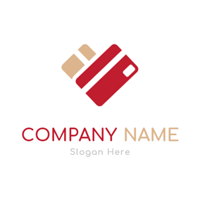 Simple Red Credit Card logo design