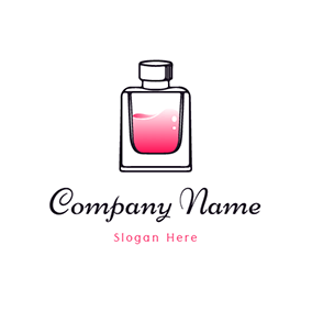 Simple Red Perfume Bottle logo design