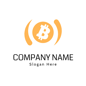 Simple Rotating Circle Bitcoin logo design
