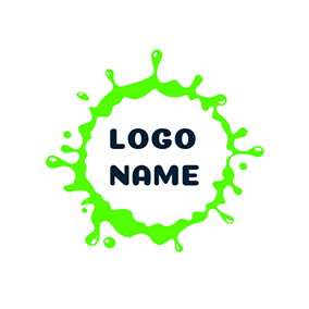 Simple Rounded Slime Decoration logo design