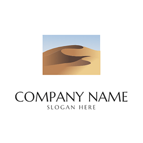 Simple Sand Dune Desert logo design