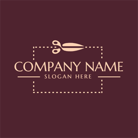 Simple Scissor and Tailor logo design