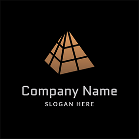 Simple Separate Grid Pyramid logo design