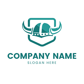 Simple Shield and Helmet logo design