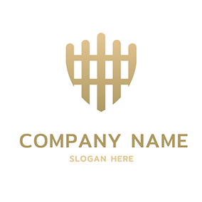 Simple Shield and Unique Fence logo design