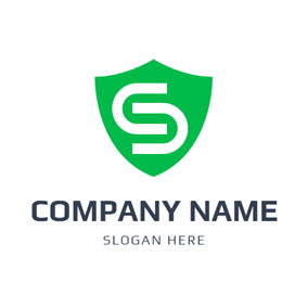 Simple Shield Letter S and C logo design