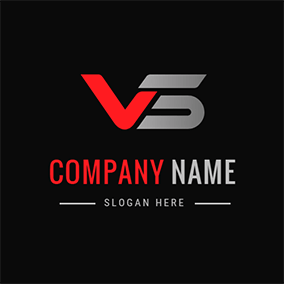 Simple Speed Letter V S logo design