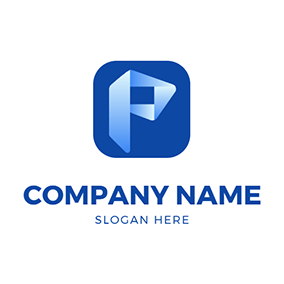 Simple Square and Letter P logo design