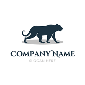 Simple Strong Lioness Outline logo design