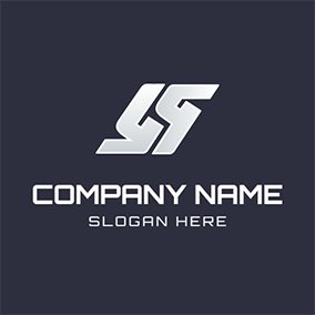Simple Symbol Shape Letter S S logo design