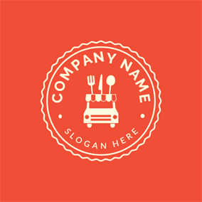 Simple Tableware and Food Truck logo design