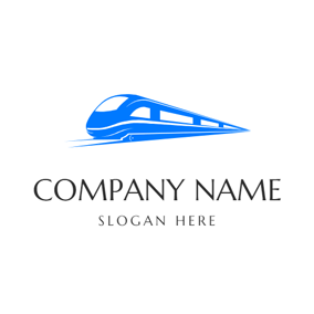 Simple Train and Railway logo design