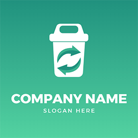 Simple Trash Can logo design
