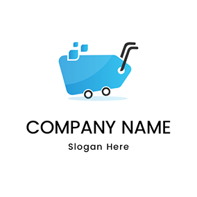 Simple Trolley Outline Wholesale logo design