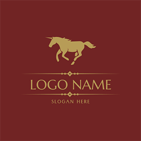 Simple Unicorn and Running logo design