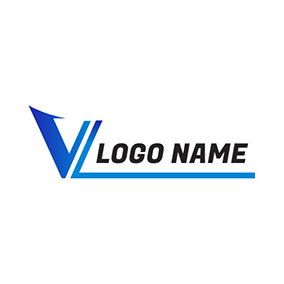 Simple Unique Letter V L logo design