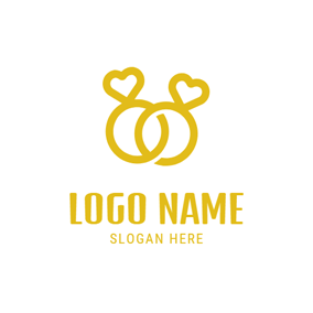 Simple Wedding Ring logo design