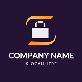 Simple White Shopping Bag logo design