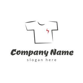 Simple White T Shirt logo design