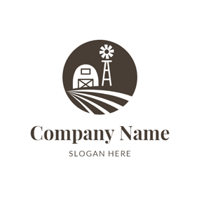 Simple Windmill and Pathway logo design