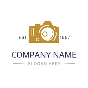 Simple Yellow Camera logo design