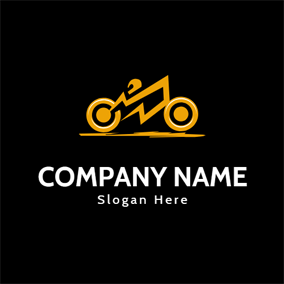 Simple Yellow Scooter Icon logo design