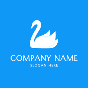 Single and Beautiful White Swan logo design