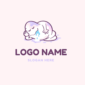 Sleep Monster and Slime logo design