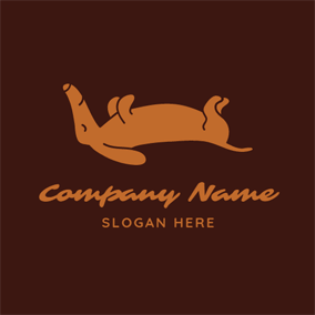 Sleeping Brown Dog logo design