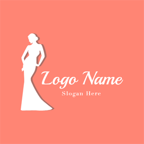 Slim Lady Model logo design