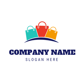 Small Colorful Handbag logo design