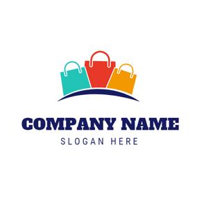 Gorgeous Yellow Handbag Small Colorful Logo Design
