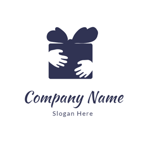 Small Hands and Gift Box logo design