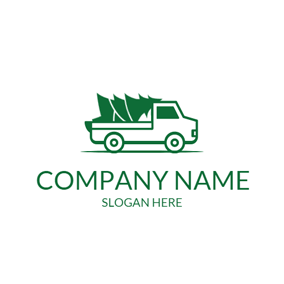 Small Truck and Chrismtas Tree logo design
