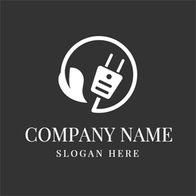Small White Plug logo design
