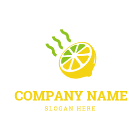 Smell and Yellow Lemon logo design