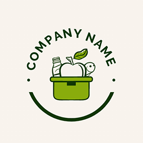 Smile Basket Food Grocery logo design
