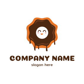Smile Face and Doughnut logo design