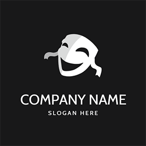 Smile Mask Actor Comedy logo design