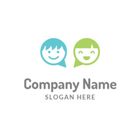 Smiling Kids and Daycare logo design
