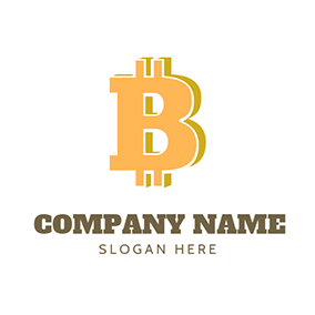 Solid Bitcoin logo design