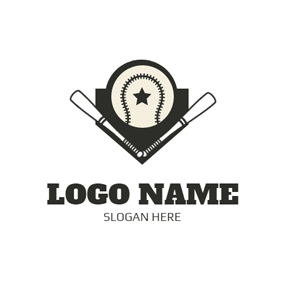 Solid Shape and Baseball logo design