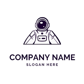 Space Suit and Astronaut logo design