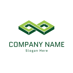 Special Green Number Eight logo design