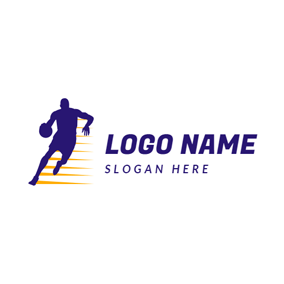 Speed and Basketball Player logo design