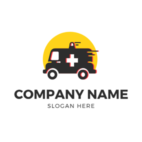 Speed Black Ambulance logo design